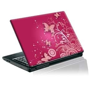 "TaylorHe Laptop Skins - Adhesivo para portátil de 15,4"", diseño de mariposas, color rosa"