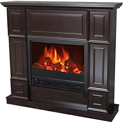 "Electric Fireplace with 44"" Mantle, Classic, Realistic flame effect/ Dark Chocolate"