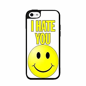 I Hate You With a Smiley Face- Plastic Phone Case Back Cover iPhone 5c
