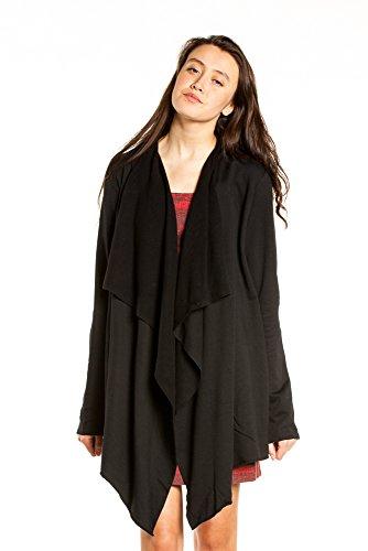 Hard Tail Crop Matrix Cardigan (Medium, Black)
