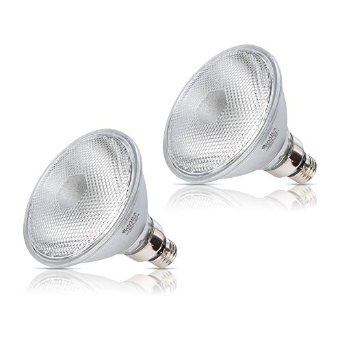 Simba Lighting 70PAR38/FL Halogen PAR38 Light Bulb 70W 30deg Spotlight Dimmable (2-Pack) for Indoor Recessed Can and Outdoor PAR 38 Security Light, 120V E26 Base, 100W Replacement, 2700K Warm White