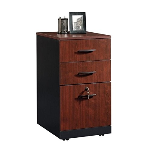 Sauder 419612 Via 3-Drawer Pedestal, Classic Cherry Finish