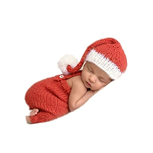 Baby Photography Props Handmade Newborn Sleeping Bag (Red) - 9