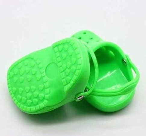 Liroyal 人形服アクセサリー 人形の靴 スリッパ 穴靴 18インチ ビーチ靴 女の子 green