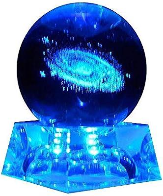 Bola de cristal Galaxy, esfera de bola de cristal transparente ...