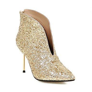 De CN39 Mujer Talón EU39 Botines Invierno Bodas Bota Paillette US8 Otoño Glitter Moda UK6 Stiletto Para Botines Botas Zapatos Señaló Botas Sequin Toe RTRY 5g7qxEwSg