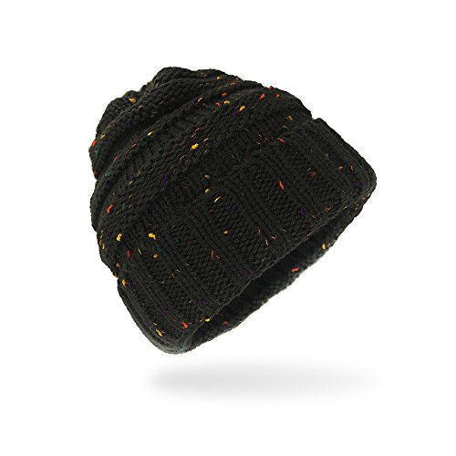 AIMKE Women\'s Warm Chunky Thick Stretchy Knit Beanie Skull Cap Winter Knitting Warm Hat