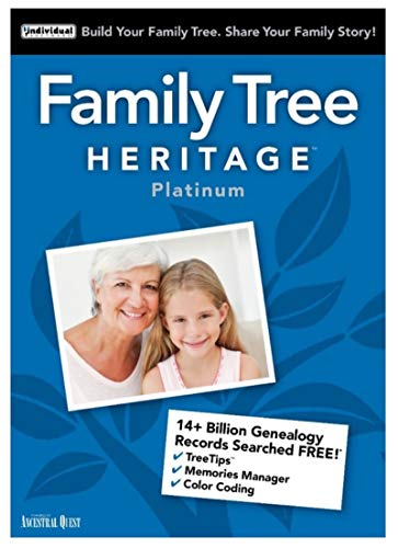 Family Tree Heritage Platinum 15 [PC Download] (Windows 7 Family)