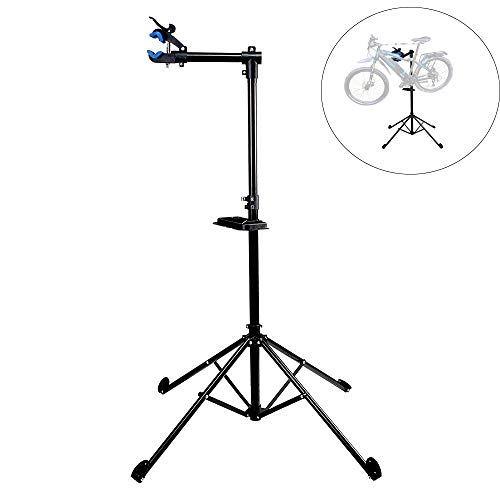 T-Former Pro Mechanic Bicycle Repair Workshop Stand Home Portable Bike Repair Stand Adjustable Height Extensible Stand Workstand Lightweight with Tool Tray Telescopic Bicycle Maintenance Rack