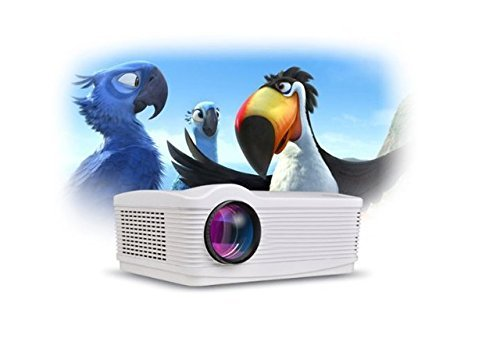Tiangtech® Android HD LED WiFi HDMI*2 USB*2 Projector Home Cinema Home Theater 3000 Lumens, 2000:1 by Tiangtech®