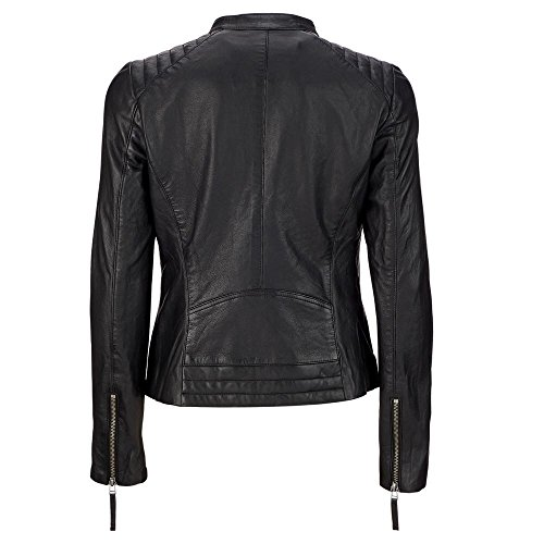 Wilsons Leather Womens Vintage Leather Scuba Jacket XL Black by Wilsons Leather (Image #2)