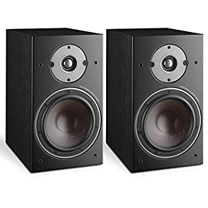 """DALI Oberon 3 2-Way 150W RMS Stand-Mount Bookshelf Speaker with 7"""" SMC Based Wood Fibre Cone Woofer and 29 mm Soft Dome Tweeter – Black Ash (Pair)"""
