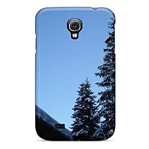 MMZ DIY PHONE CASETpu Case For Galaxy S4 With Firs The Roof The Sky