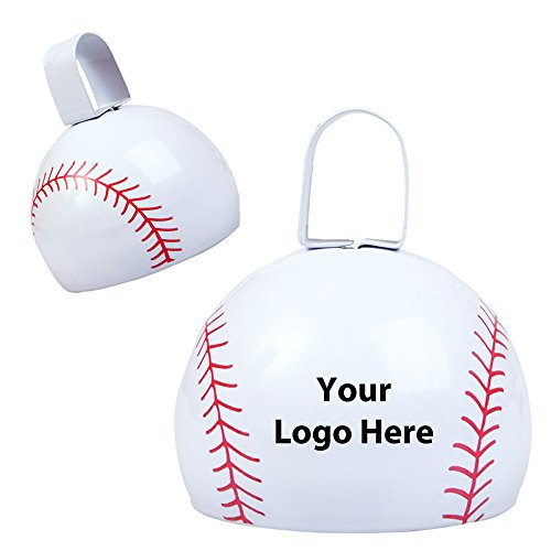 Baseball Cow Bell - 150 Quantity - $2.85 Each - PROMOTIONAL PRODUCT / BULK / BRANDED with YOUR LOGO / CUSTOMIZED by Sunrise Identity