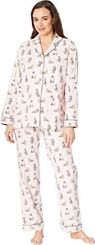P.J. Salvage Women's Feline Lazy PJ Set Pink Small