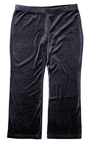 Style & Co Women's Plus Size Velour Athletic Lounge Pants 3x Deep Black