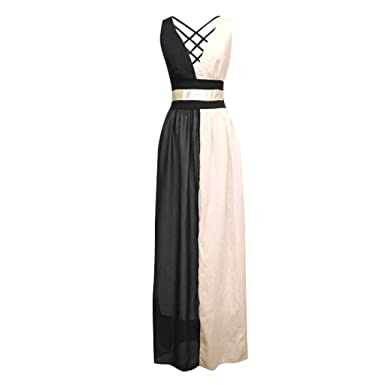 136d8bd76d Amazon.com: Dress for Women, ✓ Hypothesis_X ☎ Long Evening Dresses Pleated  Maxi Dress Sexy Sleeveless Dress Elegant Maxi D RESS: Clothing
