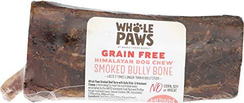 Whole Paws Grain Free Smoked Bully Bone Dog Chew, Medium, 1 ct