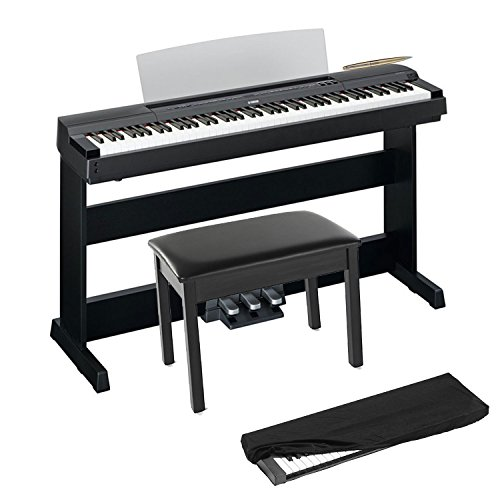 Yamaha P255B 88-Keys Graded Hammer Contemporary Pure CF Soun