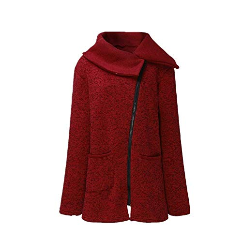 Rosso Donna Trench Outwear Elegante Grande Felpe Invernale Lunghe qwpBq8