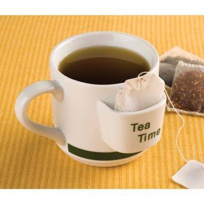 Kitchen Tea Time Ceramic Drink Mug With Tea Bag Holder