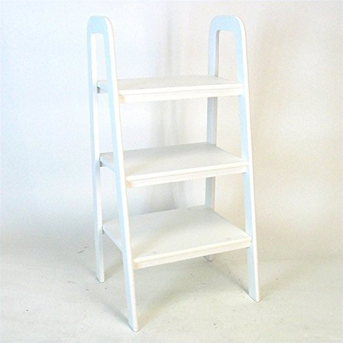 Wayborn Home Furnishing 3 Tier Ladder Stand, White by Wayborn Home Furnishing Inc