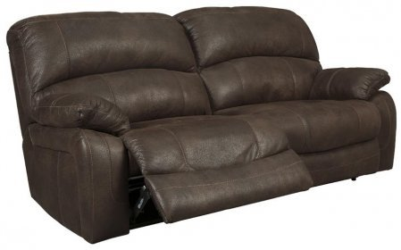 Ashley 4290181 Zavier 89″ 2 Seat Reclining Sofa with Jumbo Stitching Metal Construction and Fabric Upholstery in Truffle