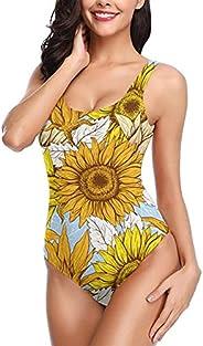 JASMODER Cute Pineapple Womens Swimsuits One Piece Swimwear Elegant Low Back Bathing Suits for Swim Beach Vaca