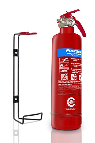 FSS UK PLUS 1 KG ABC DRY POWDER FIRE EXTINGUISHER. FULLY CE MARKED. IDEAL FOR HOMES KITCHEN WORKPLACE OFFICES CARS VANS TAXI CABS VEHICLES TRUCKS WAREHOUSES GARAGES HOTELS RESTAURANTS