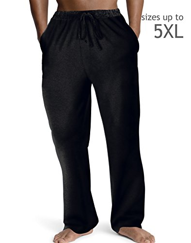 Hanes Mens ComfortSoft® Jersey Cotton Lounge Pants Black S Hanes Mens ComfortSoft® Jersey Cotton Lounge Pants by Hanes