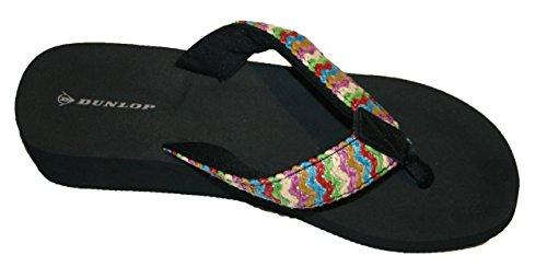DunlopRaffia - talón abierto mujer Multicolor - negro/multicolor