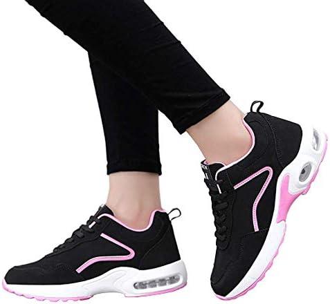 Automne et Hiver Européens et Américains Femmes Chaussures Tendance Casual Chaussures de Course Plus la Taille des Femmes Chaussures de sport, Noir Poudre,37