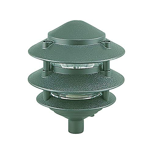 Sea Gull Lighting 9226-95 Single-Light Outdoor Path Fixture with Clear Glass, Emerald Green