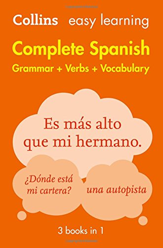 Complete Spanish Grammar Verbs Vocabulary: 3 Books in 1 (Collins Easy Learning)|-|0008141738
