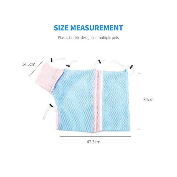 PETCUTE Cat Grooming Bag Cat Washing Bath Bag Mesh Bag for Cat Shower cat Restraint Bag Scratch-Resistant Click on image for further info. 3