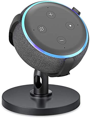 【Dot 3rd Generation Stand】 Table Holder for Echo Dot 3rd Generation, 360° Adjustable Stand Bracket Mount, Space-Saving Dot Accessories, No Muffled Sound Original Outlet Hanger for Smart Home Speaker