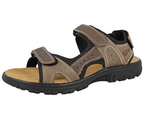leder sandalen vorne Hautfarben riemen und kreuz mit oben herren gepolsterte klettverschluss innensohle HSqqd