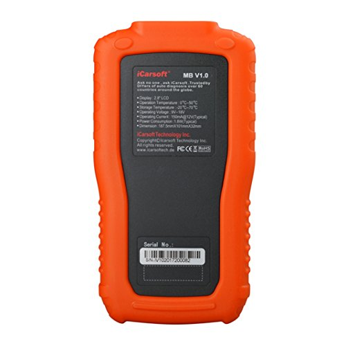 iCarsoft Multi-System Auto Diagnostic Tool MB V1.0 for Mercedes-Benz/Sprinter/Smart with Oil Reset (Orange) by iCarsoft (Image #3)