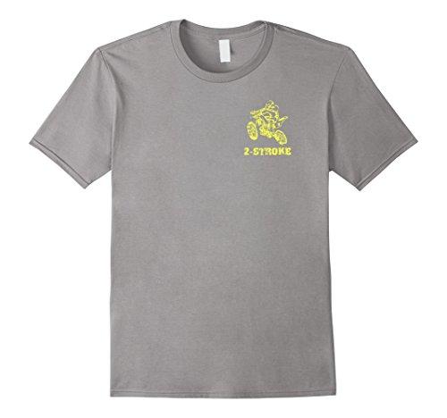 Mens Dirt Bike Braap 2-Stroke 2-Sided T-Shirt Large Slate