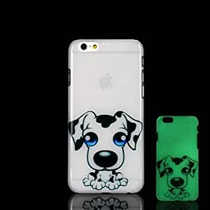 QJM dog Pattern Glow in the Dark Hard Case for iPhone 6