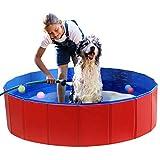 Shjjyp Baño Portátil Piscina para Perros Plegable Piscina para Mascotas O Niños Plegable Resistente Al Desgaste para Animales Piscina,L