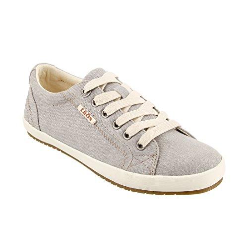 Taos Footwear Women's Star Grey Wash Canvas Sneaker 8.5 B (M) US