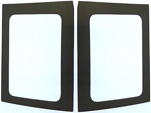 Hothead Headliners 2011-2017 Jeep Wrangler JK 4 door Rear Side Window Panels, Black ()