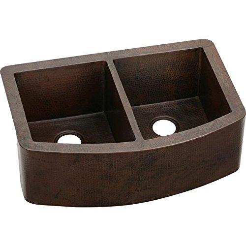 Copper Double Bowl Apron - Elkay ECUF3319ACH Equal Double Bowl Copper Farmhouse Sink