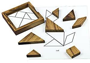 Keeping Busy Wooden Tangram Dementia and Alzheimer's Puzzle Engaging Activity for Older Adults