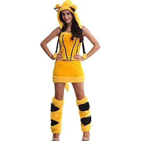 Traje de Cosplay, Papel de la Mujer Atractiva Jugar Pikachu ...