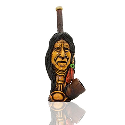 e American Native Indian Hand Painted Art Collectible (BIG BEAR) ()