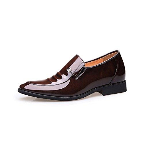 Chaussures Cuir Chaussures pour Chaussures Hommes 6cmbrown Mariage en de en Cuir LEDLFIE D'affaires Chaussures Hq1wdH