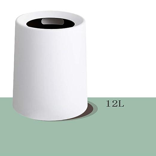 Redonda Papelera papelera, Plástico Contenedor de basura ...