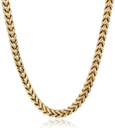 Mens Stainless Steel Foxtail Chain Necklace
